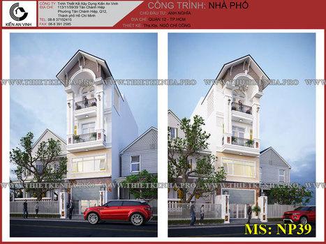 Mẫu thiết kế nhà phố 3 tầng 1 lửng đẹp tại Q.12 | ban buon quan ao tre em xuat khau | Scoop.it