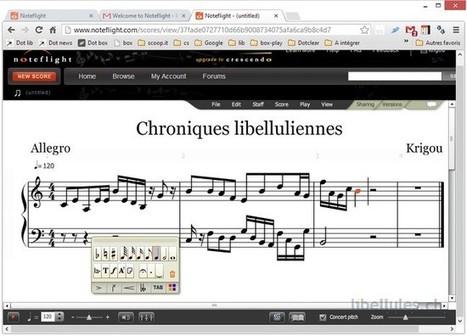 Noteflight - l'application de création musicale | anfirst | Scoop.it