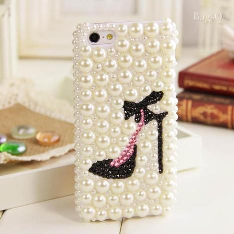 $ 23.69 New Arrival Chic Pearl High-heel Rhinestone Case for iphone4/4s | favourites | Scoop.it