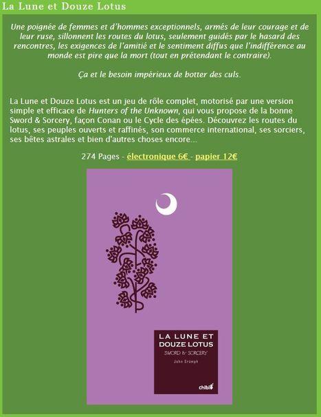 [La Lune et Douze Lotus] Concours (sans gagnant) de scénarii - Casus NO | Jeux de Rôle | Scoop.it