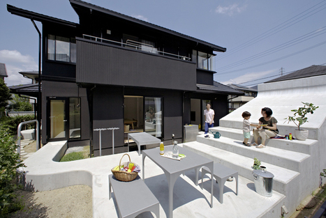 A renovated backyard in a sea of homogenous Japanese homes | 建築 | Scoop.it