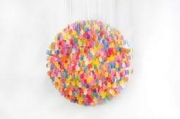 Chandelier made from 3000 gummy | DIY-UPCYCLING-RECYCLED | Scoop.it