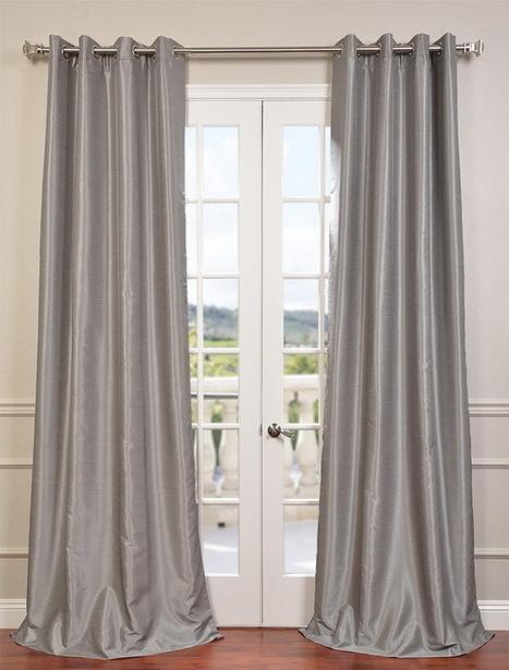 Silver Grommet Blackout Vintage Textured Dupioni Silk Curtain | window curtains | Scoop.it