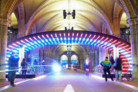 VVM Illuminates Rijksmuseum Passage with Bicycle Lightbattle in the Netherlands | PROYECTO ESPACIOS | Scoop.it