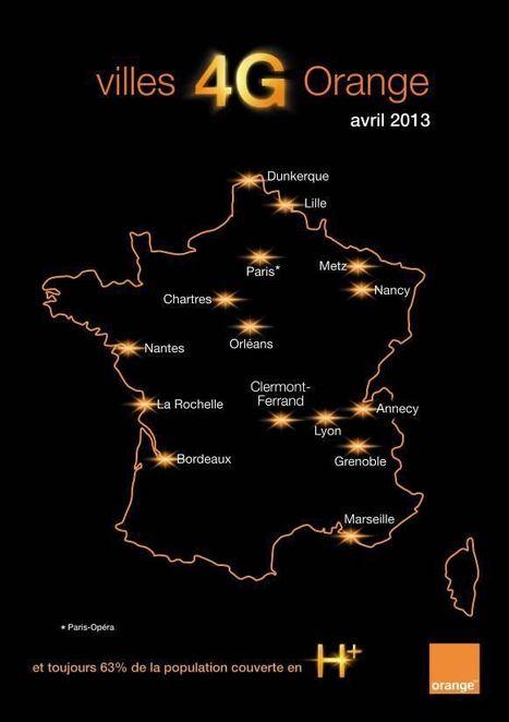 aujourd'hui, la 4G démarre à Paris avec Orange | 4G | Scoop.it