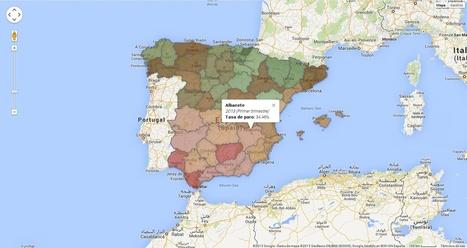 Visualizando el mapa del paro | Nuevas Geografías | Scoop.it