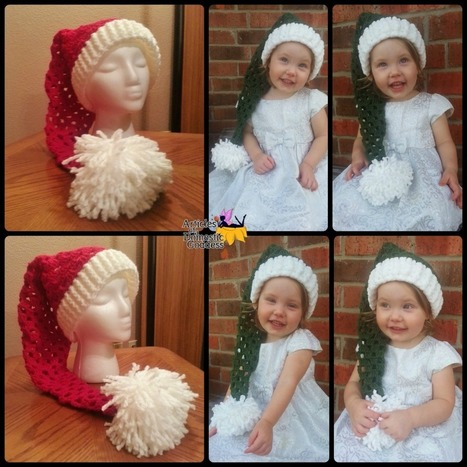 Pattern Release! Santa or Elf Stocking Cap Pattern | Articles of a Domestic Goddess | FREE Crochet Patterns | Scoop.it