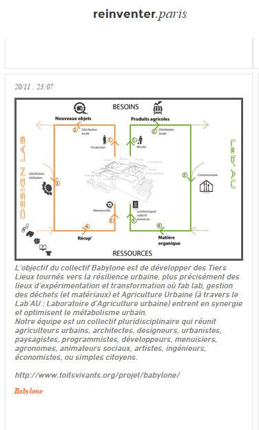 Collectif Babylone #agricultureurbaine #tierslieux @reinventer.paris / Appel à Projets Urbains Innovants   coworking   Scoop.it