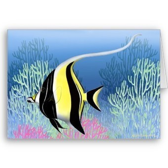 Indo Pacific Reef Moorish Idol Fish Card from Zazzle.com   Artistic Greeting Cards   Scoop.it