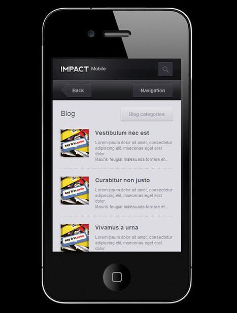 50 Best Mobile Website Templates - Smashfreakz | Wordpress | Scoop.it