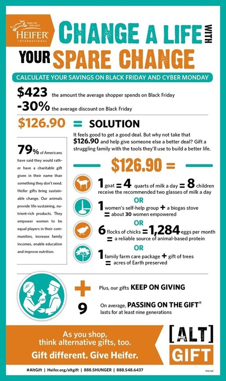 Donate Your Black Friday and Cyber Monday Savings to End Hunger & Poverty | Visualizations | Scoop.it