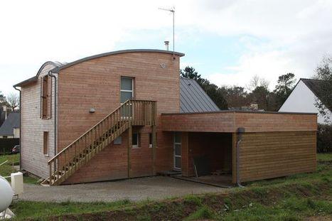 [Inspiration] Faible consommation énergétique pour une maison bois béton dans le Finistère   architecture..., Maisons bois & bioclimatiques   Scoop.it