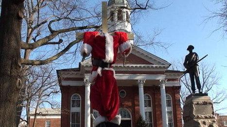 U.S. News - 'Crucified' Santa skeleton is decapitated   Strange days indeed...   Scoop.it