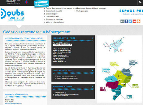 Doubs Tourisme lance un site pour favoriser les ventes d'hébergements touristiques   Voyages et Tourisme   Scoop.it
