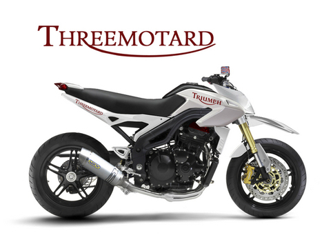 Triumph Threemotard - Concept Motorcycles ~ Grease n Gasoline | ILT Education | Scoop.it