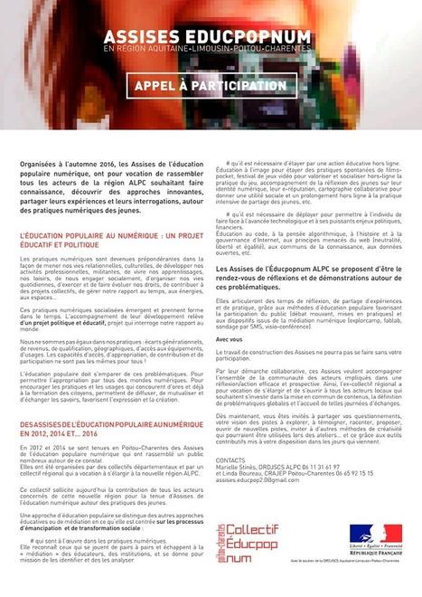 Appel à participation EDUCPOPNUM 2016 | Politique jeunesse | Scoop.it