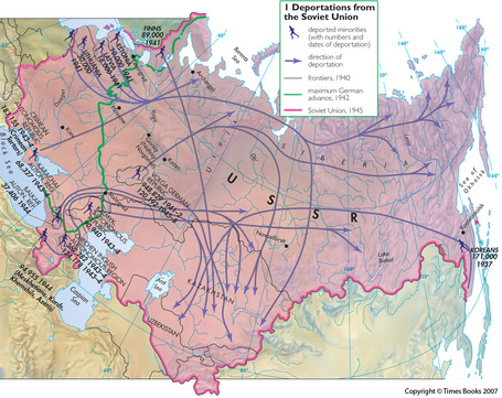 Stalin's Ethnic Deportations—and the Gerrymandered Ethnic Map | Geography Education | Scoop.it