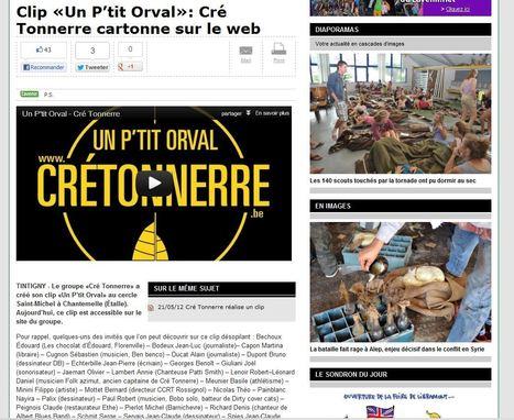 Clip «Un P'tit Orval»: Cré Tonnerre cartonne sur le web | Cré Tonnerre | Scoop.it