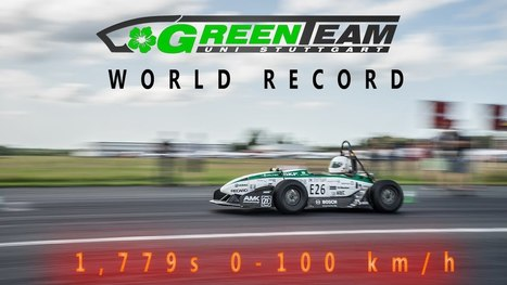 GreenTeam Electric Racer Sets 0-100 KM/H World Record - 1.779 Seconds - Gas 2 | Heron | Scoop.it