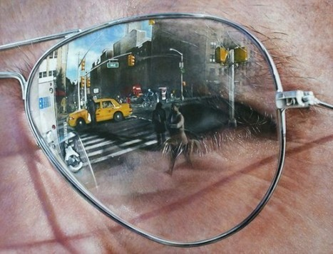 Photo-Realistic Paintings of Landscapes Reflected in Sunglasses | Strange days indeed... | Scoop.it