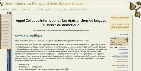 """Colloque """"Les états anciens de langues à l'heure du numérique""""   DigitalHumanities   Scoop.it"""