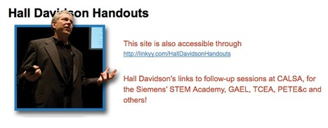 Hall Davidson's Handouts | DEN PreCon 2012 Resources | Scoop.it