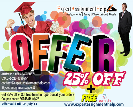25% off on assignment help services | Get assignment help | Scoop.it
