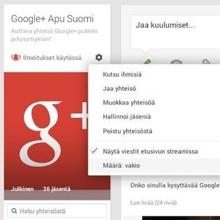 Google+ yhteisön etsiminen ja siihen liittyminen | Sosiaalinen Media | Scoop.it