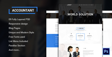 45+ Best Multipurpose Corporate PSD Templates - Designsave.com | Freebies and Resource | Scoop.it