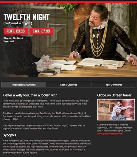 Shakespeare's Globe Player: a video-on-demand masterclass   Culture augmentée - Augmented culture   Scoop.it