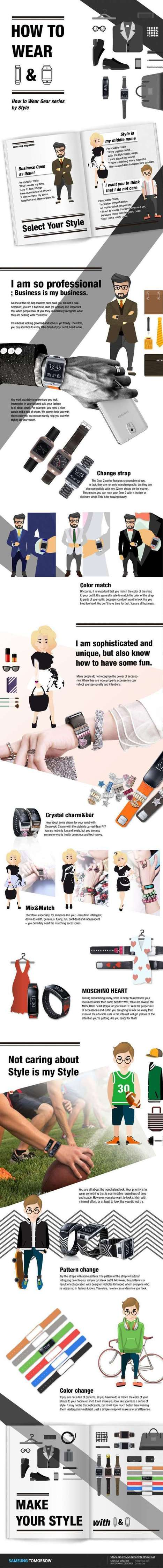 Dress Smart: How to Wear Wearable Tech in Style [INFOGRAPHIC] | The Latest in Social Media | Scoop.it