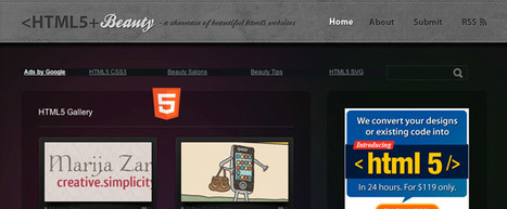 Html5 Showcase Design Galleries | vías de comunicación | Scoop.it