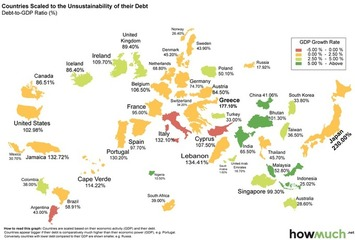 Every country's debt, mapped | money money money | Scoop.it