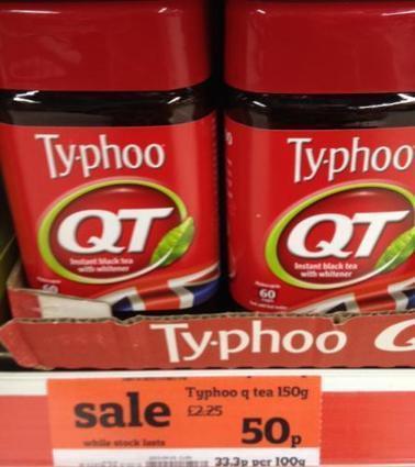 Typhoo Instant Tea reduced 50p @ Sainsbury instore Hot UK Deals   Sainsbury Typhoo   Scoop.it