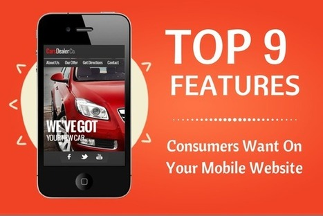 Top 9 Features Mobile Consumers Want On Your Mobile Website (Infographic) | pdxtech-info | Scoop.it