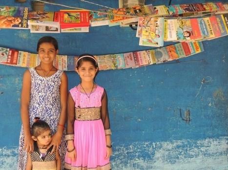 Dos niñas hindúes de 9 años crean una biblioteca en su barrio para ayudar a otros niños | Libro electrónico y edición digital | Scoop.it