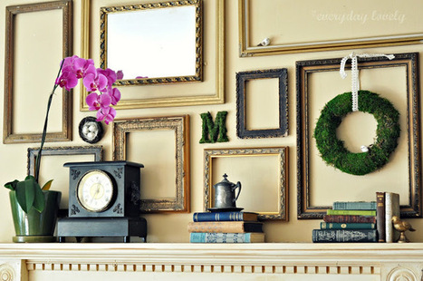 Simplicity And Beyond – How You Can Use Empty Frames As Wall Decor | Designing Interiors | Scoop.it