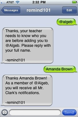 Free Technology for Teachers: Remind 101 - Safely Text Parents and Students | Art Education | Scoop.it