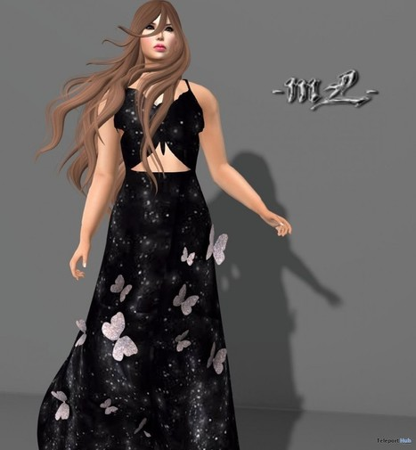 Butterfly Gown Group Gift by monaLISA | Teleport Hub - Second Life Freebies | Second Life Freebies | Scoop.it