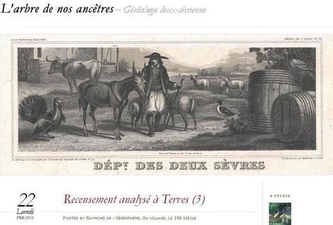 Blog du jour (106) : L'arbre de nos ancêtres (Deux-Sèvres) | CGMA Généalogie | Scoop.it