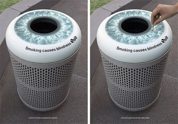 Ambient Marketing original, « Fumer provoque la cessité ». | streetmarketing | Scoop.it