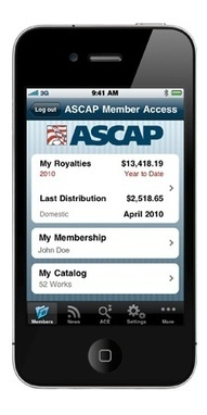 ASCAP Unveils Cool New App - American Songwriter | ASCAP LAUNCHES APP FOR iPHONE, iPAD & iPOD TOUCH | Scoop.it