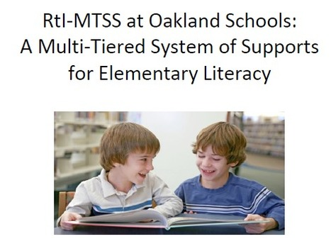 Oakland Schools RtI/MTSS Brochure - 2013-14 | Positive Behavior Intervention & Supports:  Oakland County | Scoop.it