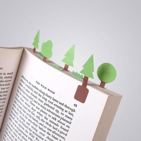 Des paysages sur livres en marque-pages autocollants | open access | Scoop.it