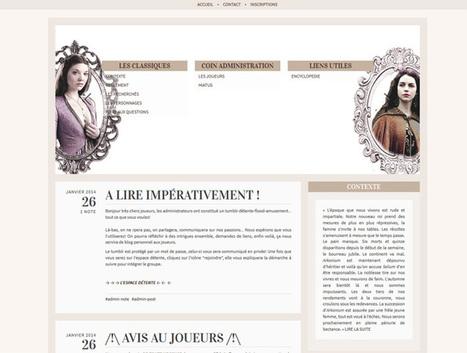 Comment faire du RPG sur Tumblr ? | Infinite-RPG.com | Jeux de role écrits et transmédia | Scoop.it