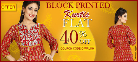 Block Printed Cottton Kurtis | www.jaipurkurti.com | Scoop.it