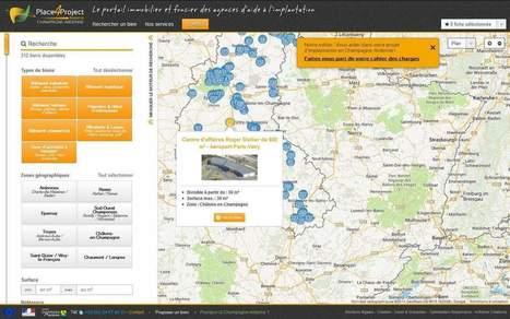 Place4Project, l'outil web immobilier d'entreprises Made in Champagne-Ardenne | Promotion économique des territoires et prospection d'entreprises | Scoop.it