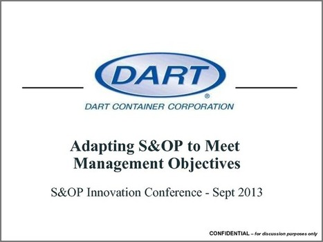 Adapting Your S&OP to Fit Management Objectives | ieOnDemand | Business Education | Scoop.it