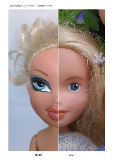 You Need To See How Normal Bratz Dolls Look Without All That Makeup - TheGloss | Fashion Dolls | Scoop.it