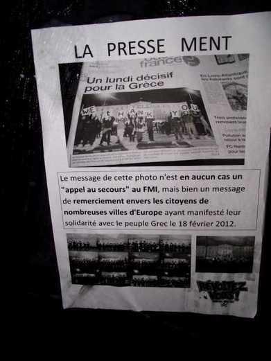 [Nantes] Contre la presse qui ment : le siège de Ouest France redécoré. - IMC Nantes | Occupy Belgium | Scoop.it